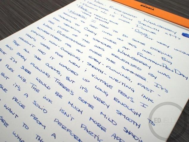 Left margin of handwriting
