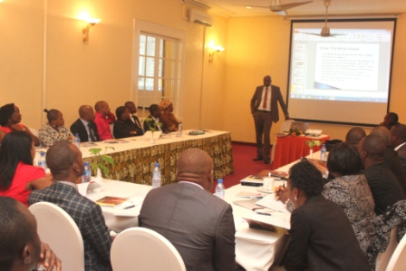 Chinua Asuzu teaching participants at the legal-writing workshop organized by The Write House, Sheraton, Lagos, July 30-31.