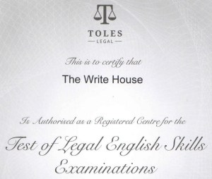 TOLES re-certifies The Write House from 2014