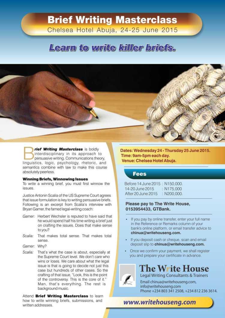 Brief Writing Masterclass