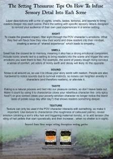 The Setting Thesaurus_Sensory Details