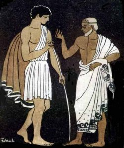 Telemachus and Mentor (public domain)