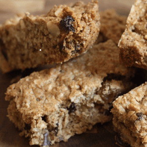 oatmeal raisin cranberry bars #writes4food