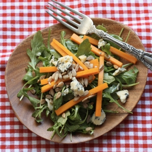 butternut squash blue cheese salad #writes4food