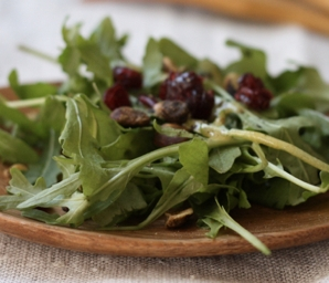 spring arugula salad recipe #writes4food