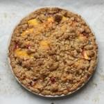 peach bourbon crumb-top pie recipe   writes4food.com