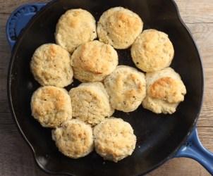 black pepper skillet biscuits | writes4food.com