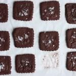chocolate sea salt shortbread cookies | writes4food.com