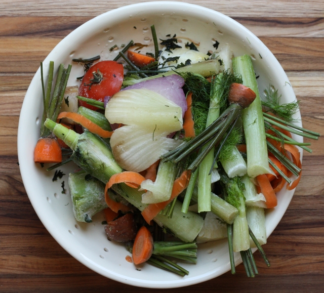 making homemade vegetable stock | writes4food.com