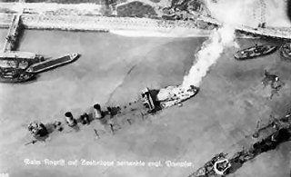 An aerial view of Zeebrugge (1918)