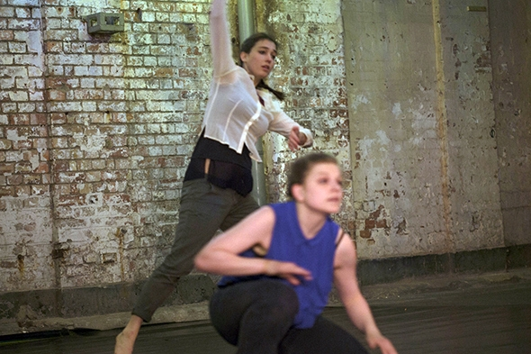 Agnese Lanza and Julie Havelund in Acts of Attending (photo: Abigail Yue Wang)