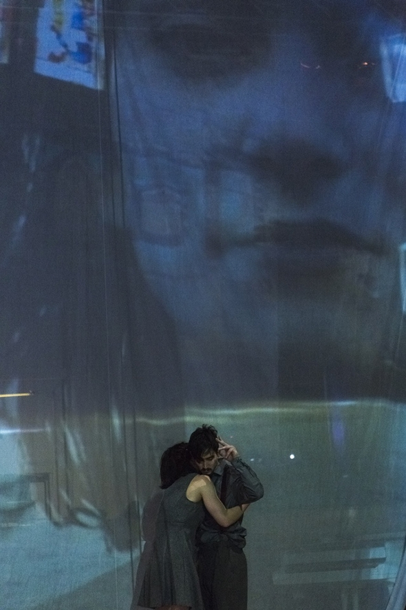 Anne-Gaëlle Thiriot and Marc Stevenson in Tara D'Arquian's Quests (photo: Alicia Clarke)