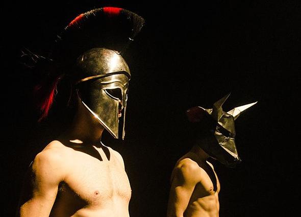 Joseph Mercier and Jordan Lennie in Theseus Beefcake