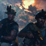 "Left to right: Pablo Schreiber plays Kris ""Tanto"" Paronto and David Denman plays Dave ""Boon"" Benton in 13 Hours: The Secret Soldiers of Benghazi from Paramount Pictures and 3 Arts Entertainment / Bay Films in theatres January 15, 2016."