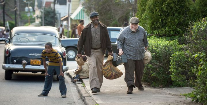 Denzel Washington plays Troy Maxson and Stephen McKinley Henderson plays Jim Bono in Fences from Paramount Pictures. Directed by Denzel Washington from a screenplay by August Wilson.