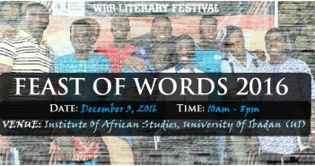 FEAST OF WORDS 2016 HOLDS DEC 3