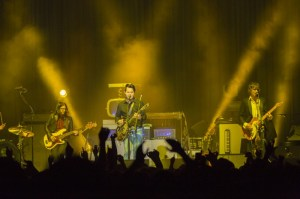 White performs with his band, The Raconteurs, at Bridgestone