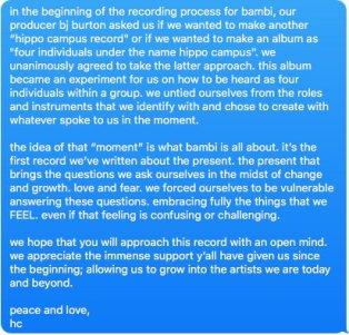 Album statement