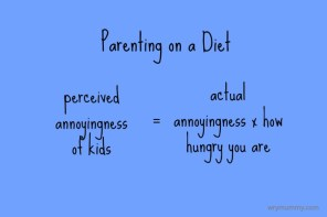 Parenting on a diet