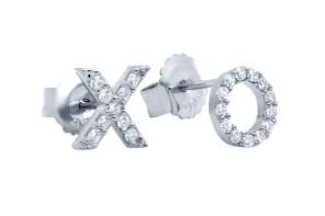 Hug Kiss Earrings - Silver - ALEXI London
