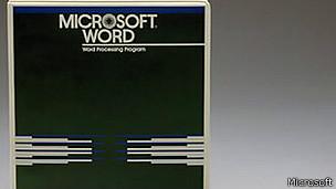 Versión antigua de Microsoft Word.