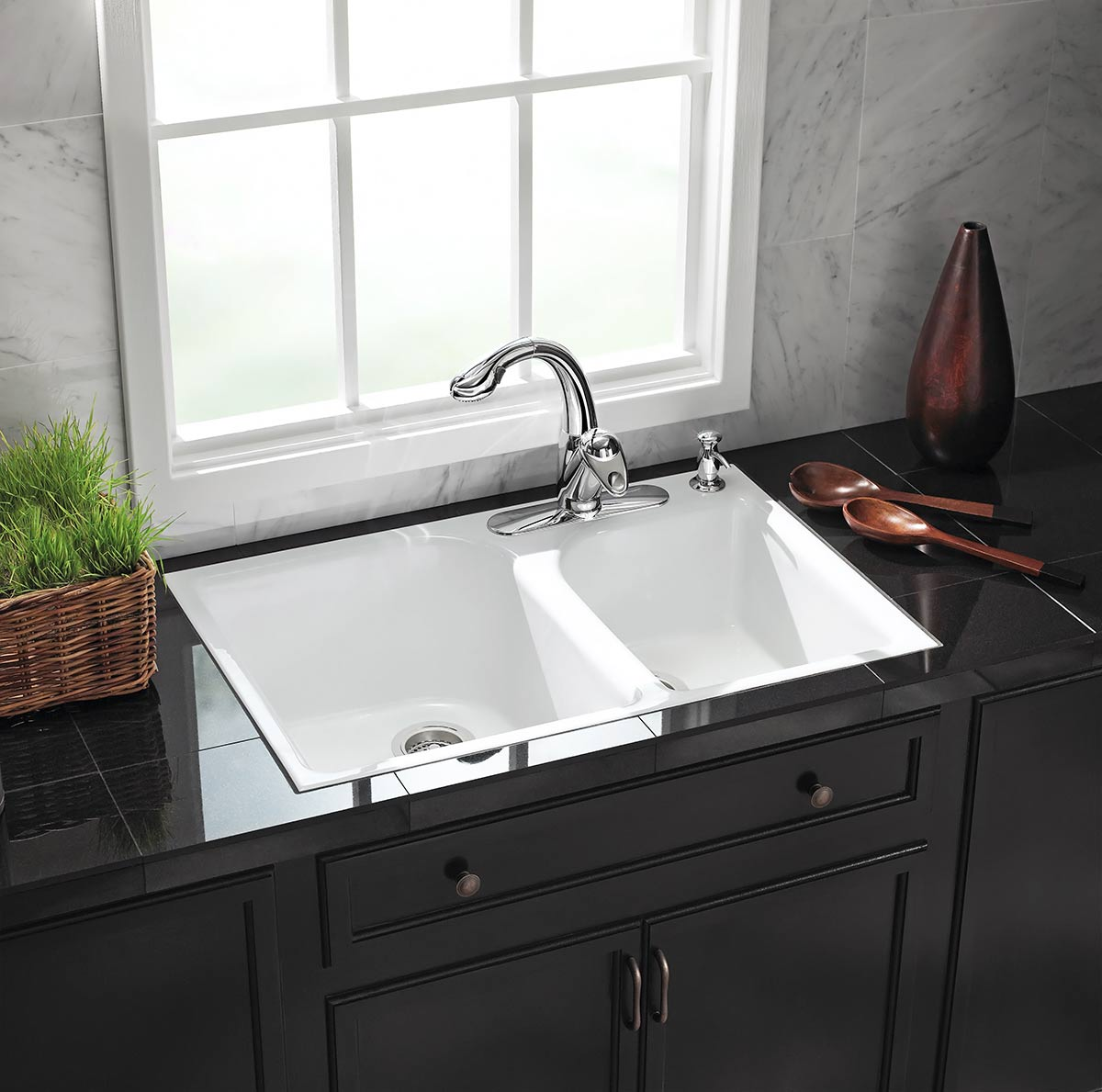 plumbing fixtures for the kitchen kohler kitchen sinks Kohler cast iron tile in kitchen sink