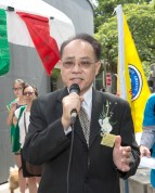 圖為貴賓駐溫哥華經文處劉漢清副處長致詞。