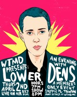Lower Dens will perform an intimate seated live broadcast at WTMD on April 2. Poster by Alex Fine Illustration.