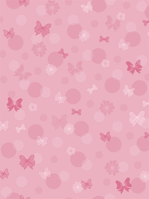 Dy0178 Disney Minnie Mouse Bows Dots Wallpaper Kids Iii