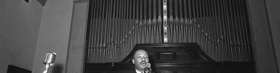 Dr. Martin Luther King Jr., delivers the eulogy at a memorial service for Rev. James Reeb in Selma, Alabama  March 16, 1965. (AP Photo)