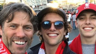 Photo of John Bishop joins plane full of Liverpool fans singing You'll Never Walk Alone