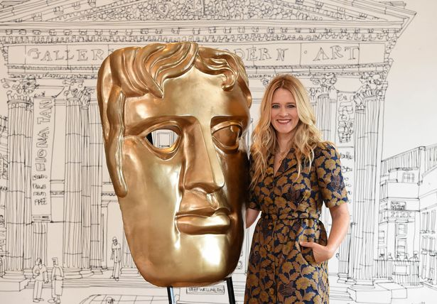 Pictured is Edith Bowman, who will join Dermot O'Leary to host the official BAFTA red carpet live programme