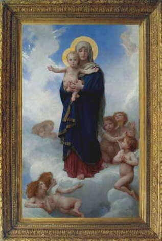 """Notre Dame des Anges"" an 1889 painting by William-Adolphe Bouguereau. (Provided photo) / AL"