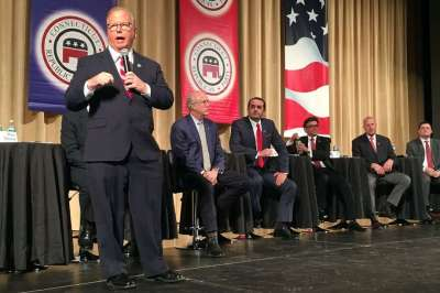 Outsider candidates take on establishment at GOP governor debate - Connecticut Post