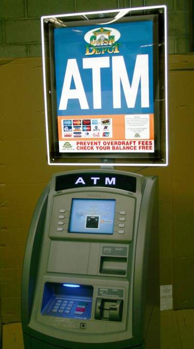 Cash Depot Has Highly Illuminated ATM LCD Sign Toppers