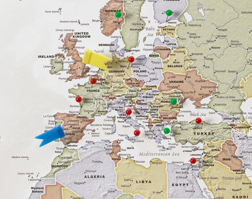 Create Your World Travel Map Yoktravelscom - World map to mark travels