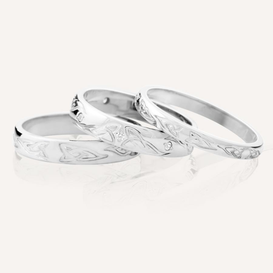 prweb claddagh wedding bands Trinity Knot Wedding Bands at CelticPromise comTrinity Knot Wedding Bands by designer Joseph Harbourne at CelticPromise com