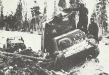 captured Russian tractor STZ Komsomolet