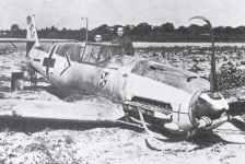 force-landed Me109 from von Werra