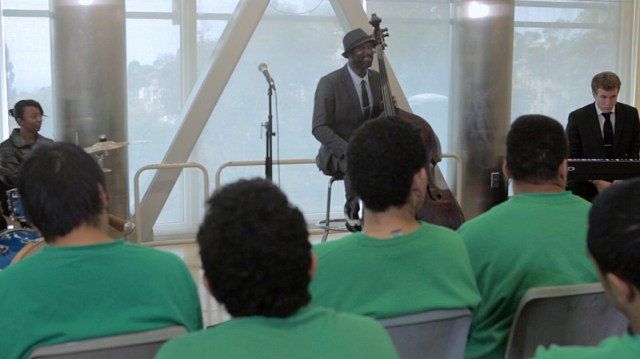 Marcus Shelby and band in Juvenile Justice Center