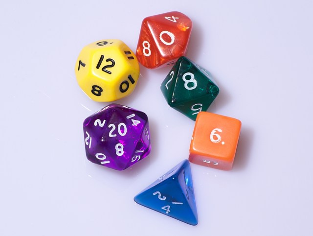 Dungeons & Dragons Dice, courtesy Wikimedia Commons