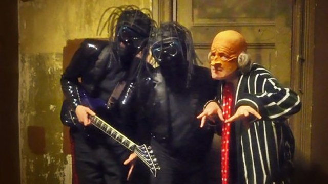 Bob, Chuck and Randy of the Residents during the <i>Talking Light</i> tour