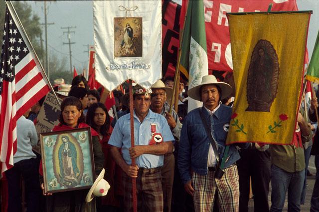 Lou Dematteis, UFW March, 1975