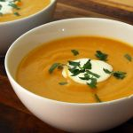 Thanksgiving Starter: Creamy Roasted Butternut Squash Soup with Apples and Ginger