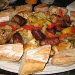 Dinner for a Crowd -- Roasted Chicken and Italian Sausage