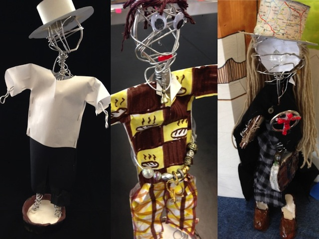 Sculptures by Caren Andrews' students