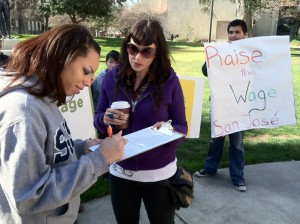 SJSU student activist, Elisha St. Laurent, is among the first to sign the petition.