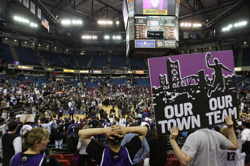 Fans have campaigned to keep the Kings basketball team in Sacramento. (Jed Jacobsohn/Getty Images)