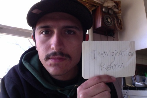 """""""This country has been built by immigrants from day one. We all know this. So why not have an immigration reform instead of separating families,"""" Isaac Soto, Hayward"""