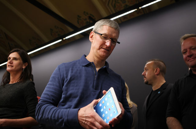 Cook at the event unveiling the iPad Mini. (KIMIHIRO HOSHINO/AFP/Getty Images)